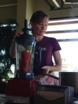 This blender is filled with goodness that bees helped us acquire through pollination!