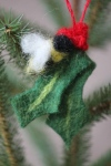 Bees bring holly berries through pollination! What a great story to hang on your holiday tree!