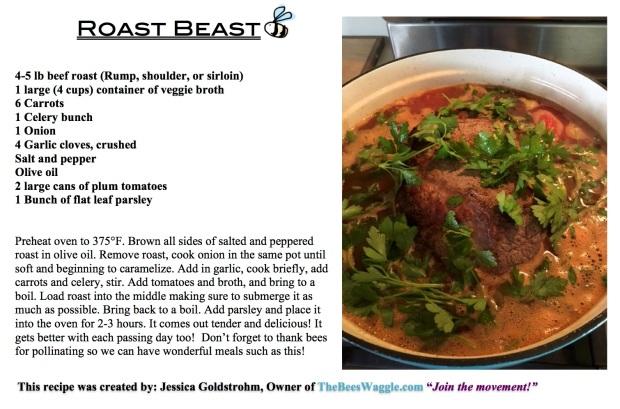 Roast Beast recipe card